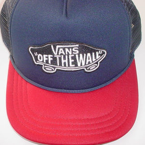 Vans off the Wall snapback baseball hat blue red